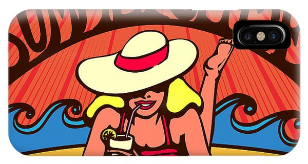 Tan iPhone Case - Summertime Blond Relaxed Girl by Durantelallera