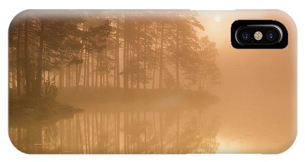 Swedish iPhone Case - Sun & Mist by Andreas Christensen
