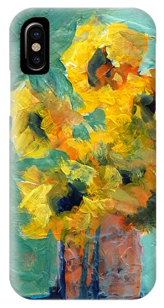 Organic Abstraction iPhone Case - Sun And Shadow by Nancy Merkle