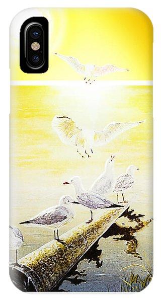Sun Birds IPhone Case