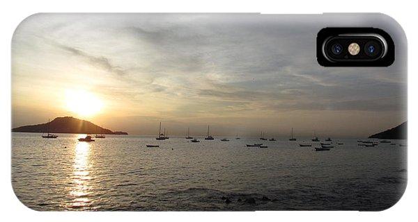 Sun Black Ocean IPhone Case