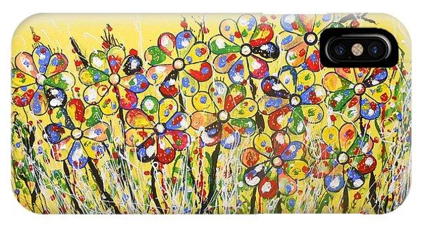 Sun-kissed Flower Garden IPhone Case