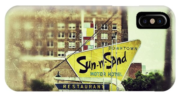 Sun-n-sand Sign IPhone Case
