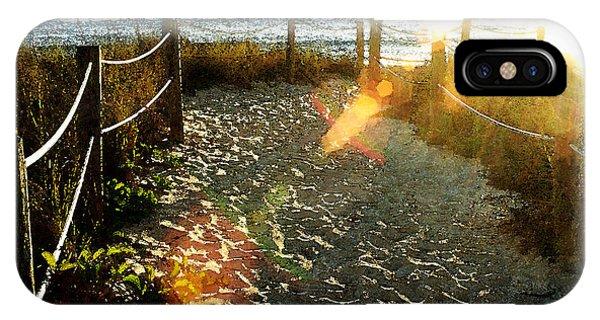 Sun Ray Beach Path IPhone Case