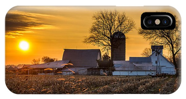 Sun Rise Over The Farm IPhone Case