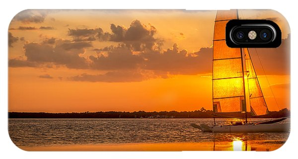 South Pacific Ocean iPhone Case - Sun Sail by Marvin Spates