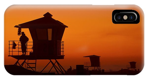 Sun Sets On Huntington Beach IPhone Case