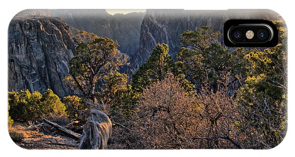 Sun Setting At Painted Wall IPhone Case