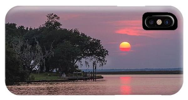 Sun Setting In The Bayou IPhone Case