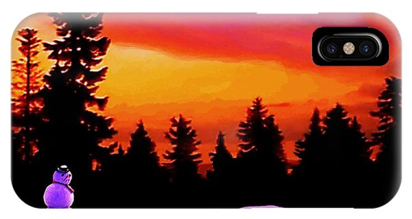 Sun Setting On Snow IPhone Case