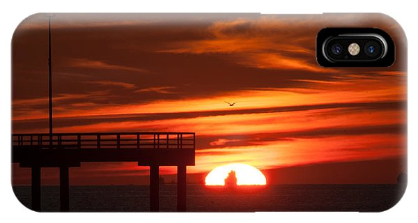 Sun Ship And Pier IPhone Case