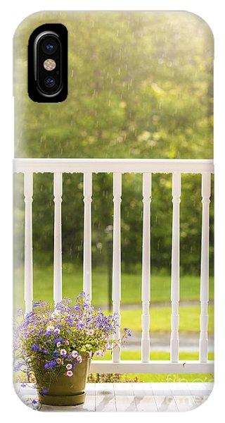 Porches iPhone Case - Sun Showers by Diane Diederich
