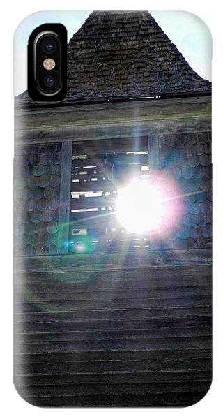 Sun Through The Steeple-by Cathy Anderson IPhone Case
