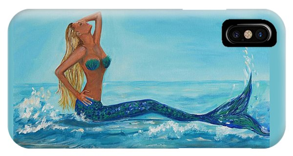 Sunbathing Mermaid IPhone Case