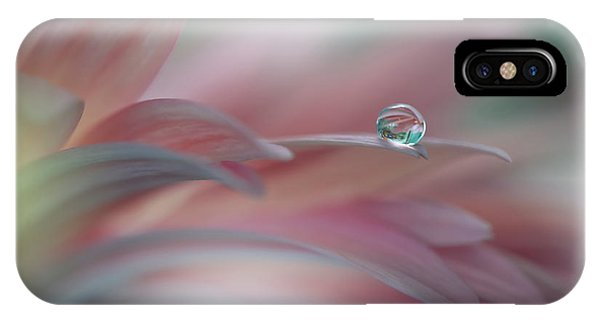 Water Droplets iPhone Case - Sunbeam..ii by Juliana Nan