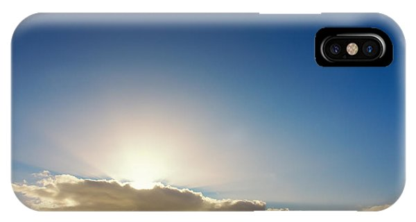 Sunbeams Behind Clouds IPhone Case