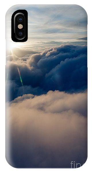 Sunburst Above The Clouds IPhone Case