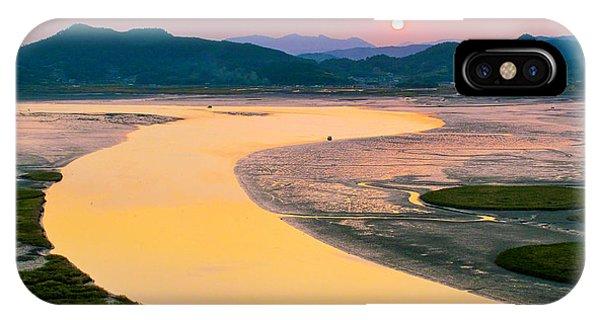 Suncheon Bay Sunset IPhone Case