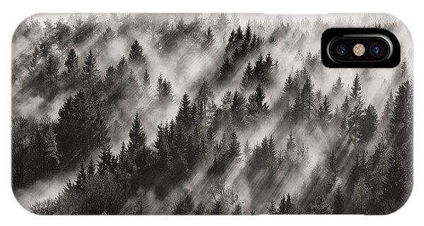Fir Trees iPhone Case - Sundance No.1 by Davorin Baloh