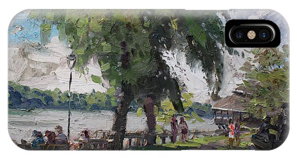 Silos iPhone Case - Sunday At Lewiston Waterfront Park by Ylli Haruni