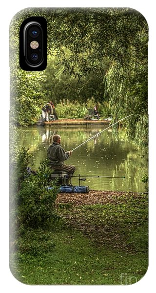 IPhone Case featuring the photograph Sunday Fishing At The Lake by Jeremy Hayden