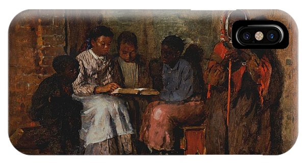 Poverty iPhone Case - Sunday Morning In Virginia, 1877 Oil On Canvas by Winslow Homer