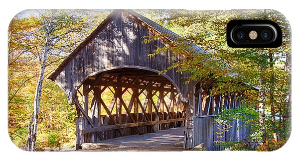Sunday River Covered Bridge IPhone Case