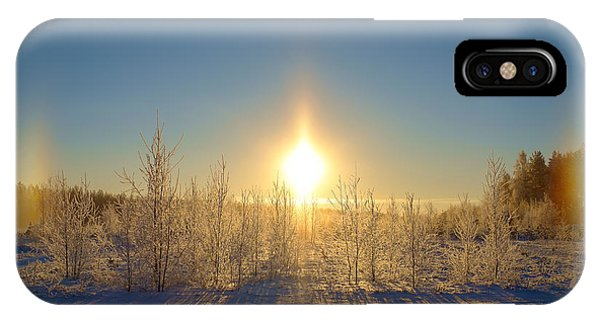 Sundogs In Winter Wonderland IPhone Case