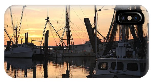 Sundown At Marshallberg Harbor IPhone Case