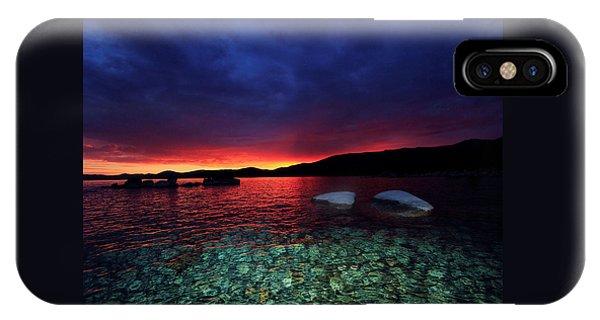 Sundown In Lake Tahoe IPhone Case