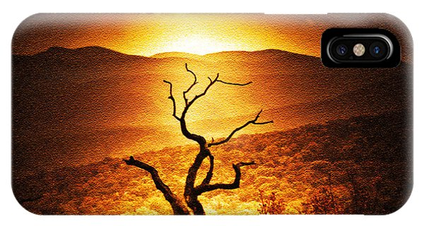 Sundown In The Mountains IPhone Case