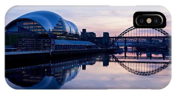 Sundown On The Tyne IPhone Case