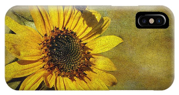 Sunflower And Bumble Bee IPhone Case