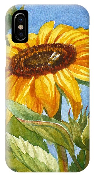 Sunflower And Honey Bee IPhone Case