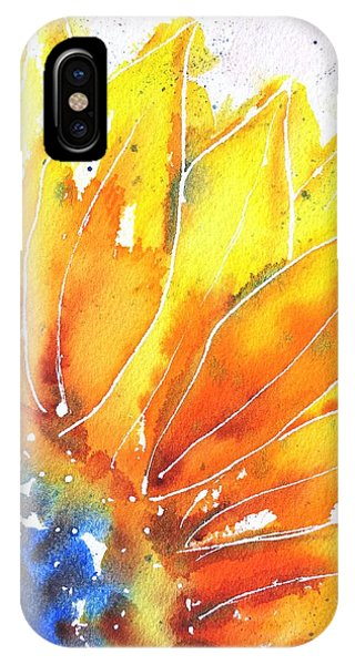 Sunflower Blue Orange And Yellow IPhone Case