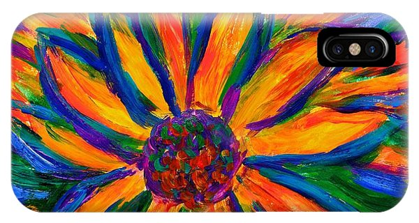 IPhone Case featuring the painting Sunflower Burst by Kendall Kessler