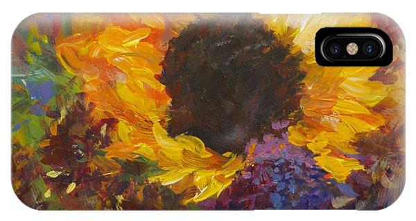 Sunflower Dance Original Painting Impressionist IPhone Case