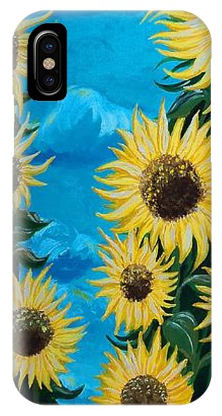 Sunflower Fun IPhone Case