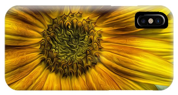 Sunflower In Oil Paint IPhone Case