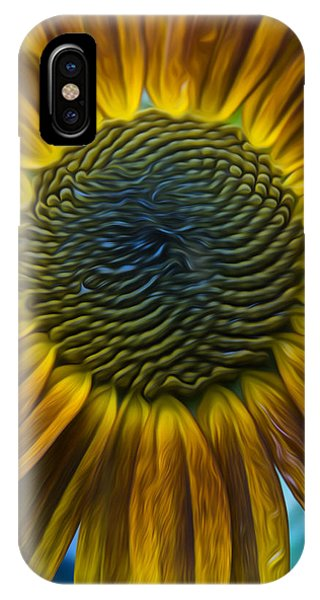 Sunflower In Rain IPhone Case