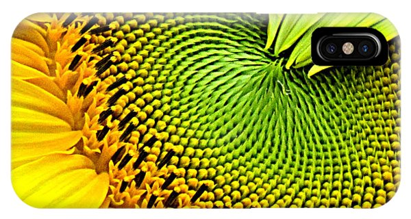 Sunflower Kaleidescope IPhone Case