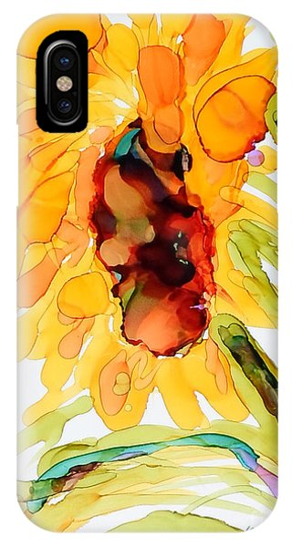 Sunflower Left Face IPhone Case