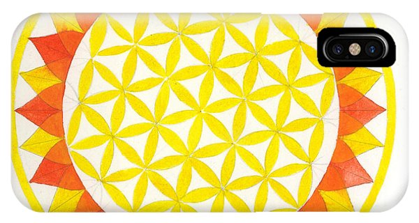 Sunflower Mandala Phone Case by Silvia Justo Fernandez