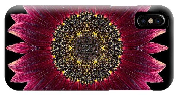 Sunflower Moulin Rouge I Flower Mandala IPhone Case