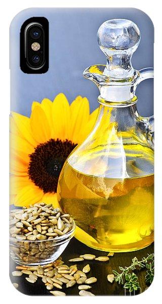 Sunflower Seeds iPhone Case - Sunflower Oil Bottle by Elena Elisseeva