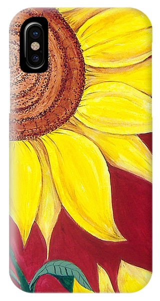 Sunflower On Red IPhone Case