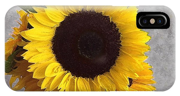 Sunflower Photo With Dry Brush Filter IPhone Case