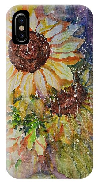 Sunflower Rain IPhone Case