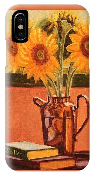 Sunflower Still Life IPhone Case