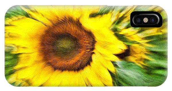 Sunflower Study 4 Phone Case by Mitchell Brown